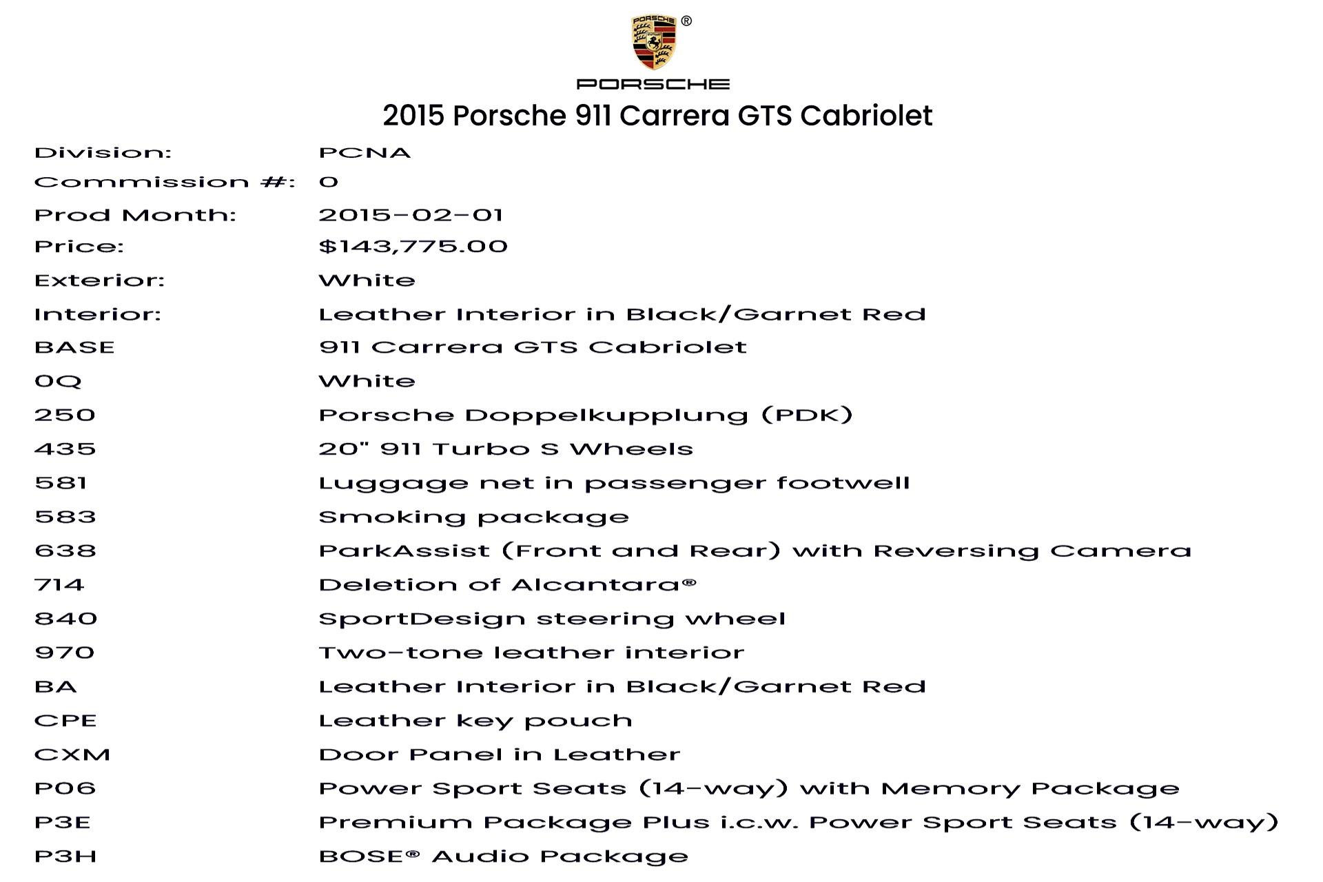 Used 2015 Porsche 911 Carrera GTS   Glen Cove, NY
