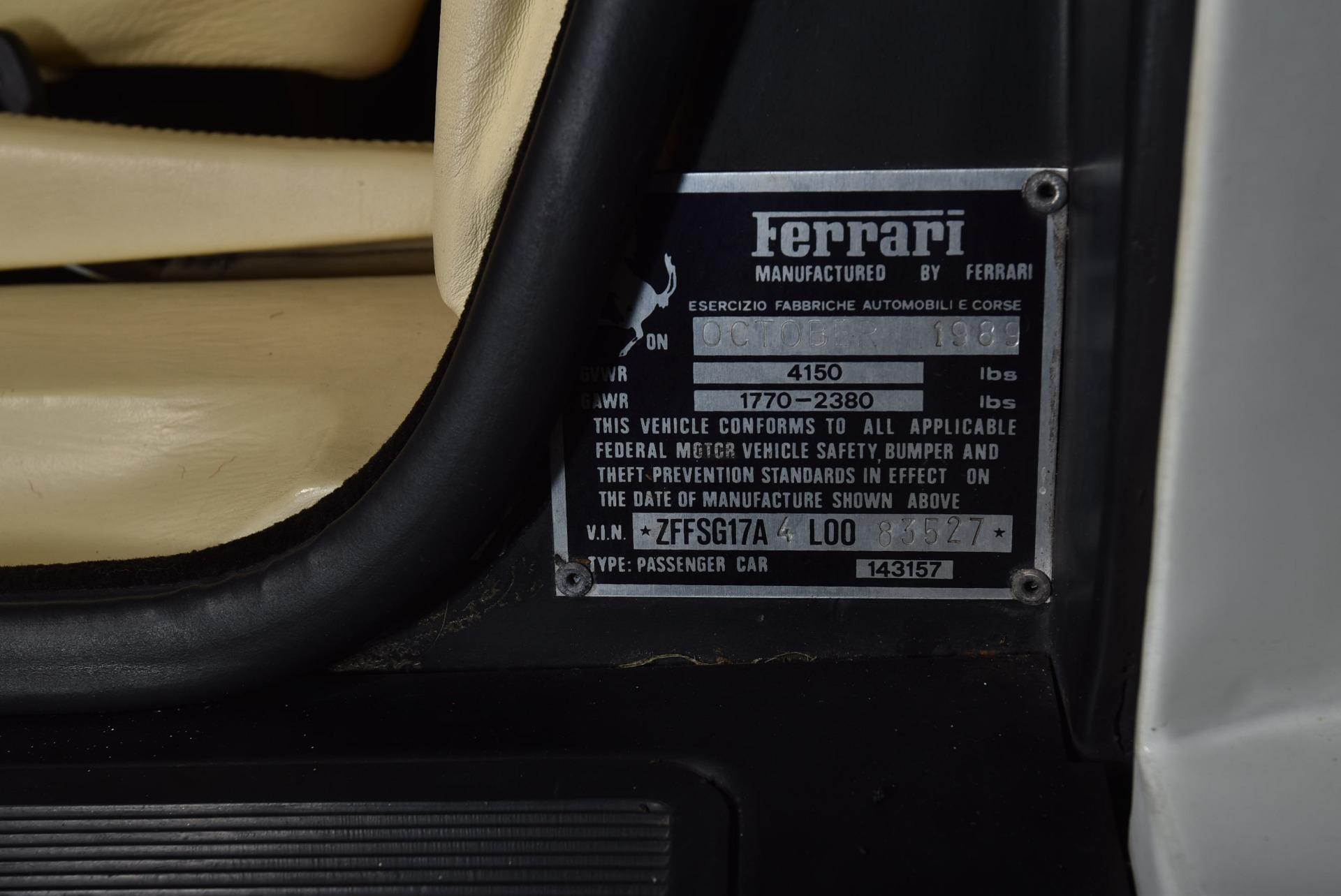 Used 1990 Ferrari Testarossa    Valley Stream, NY