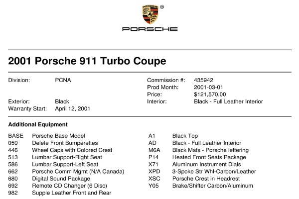 Used 2001 Porsche 911 Turbo | Valley Stream, NY